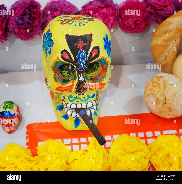 Mexikanischen Tag der Toten Figuren.  Dia de Los Muertos. Stockbild