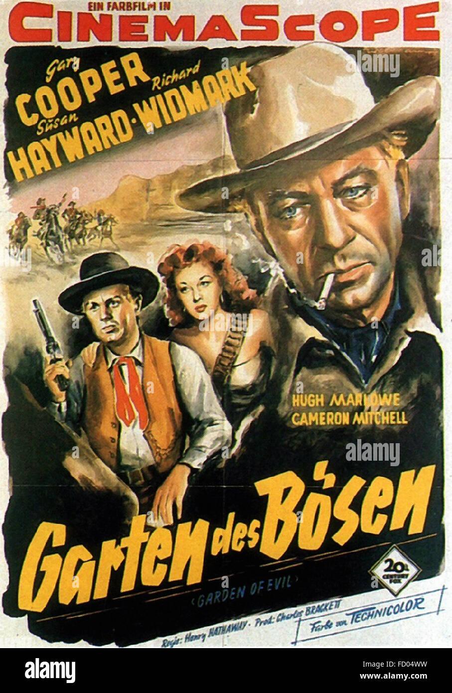 Garten des Bösen - deutsches Filmplakat Stockbild