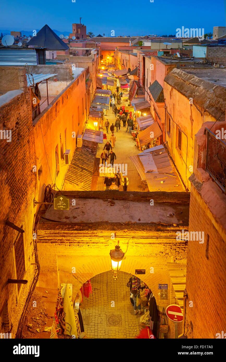Medina von Marrakesch Bezirk, Marokko, Afrika Stockbild