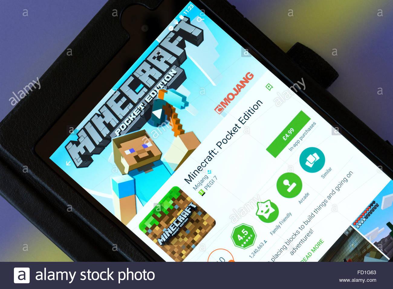 MinecraftVideoSpiel App Auf Einem AndroidTabletPC Dorset - Spiele wie minecraft pc