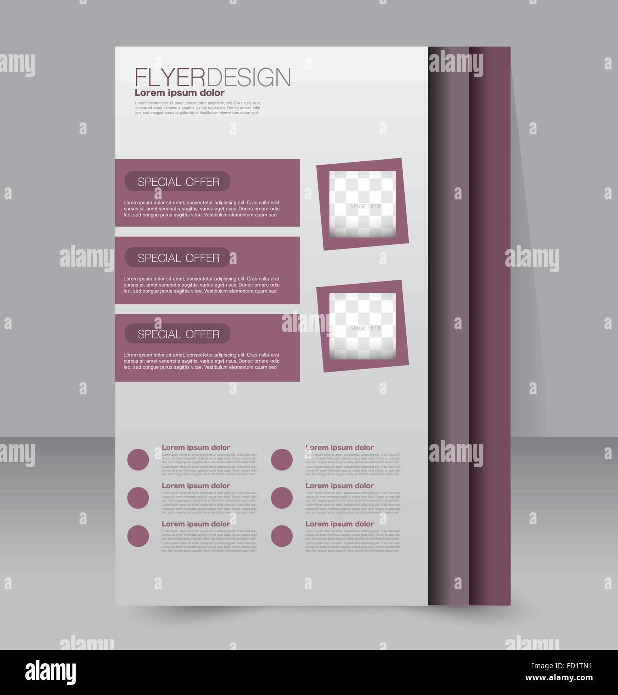 Flyer Design-Vorlage. Deckblatt für Jahresbericht. Broschüre ...