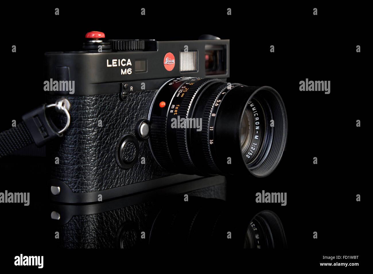 Film kamera. leica m6 ttl 35 mm classic vintage entfernungsmesser