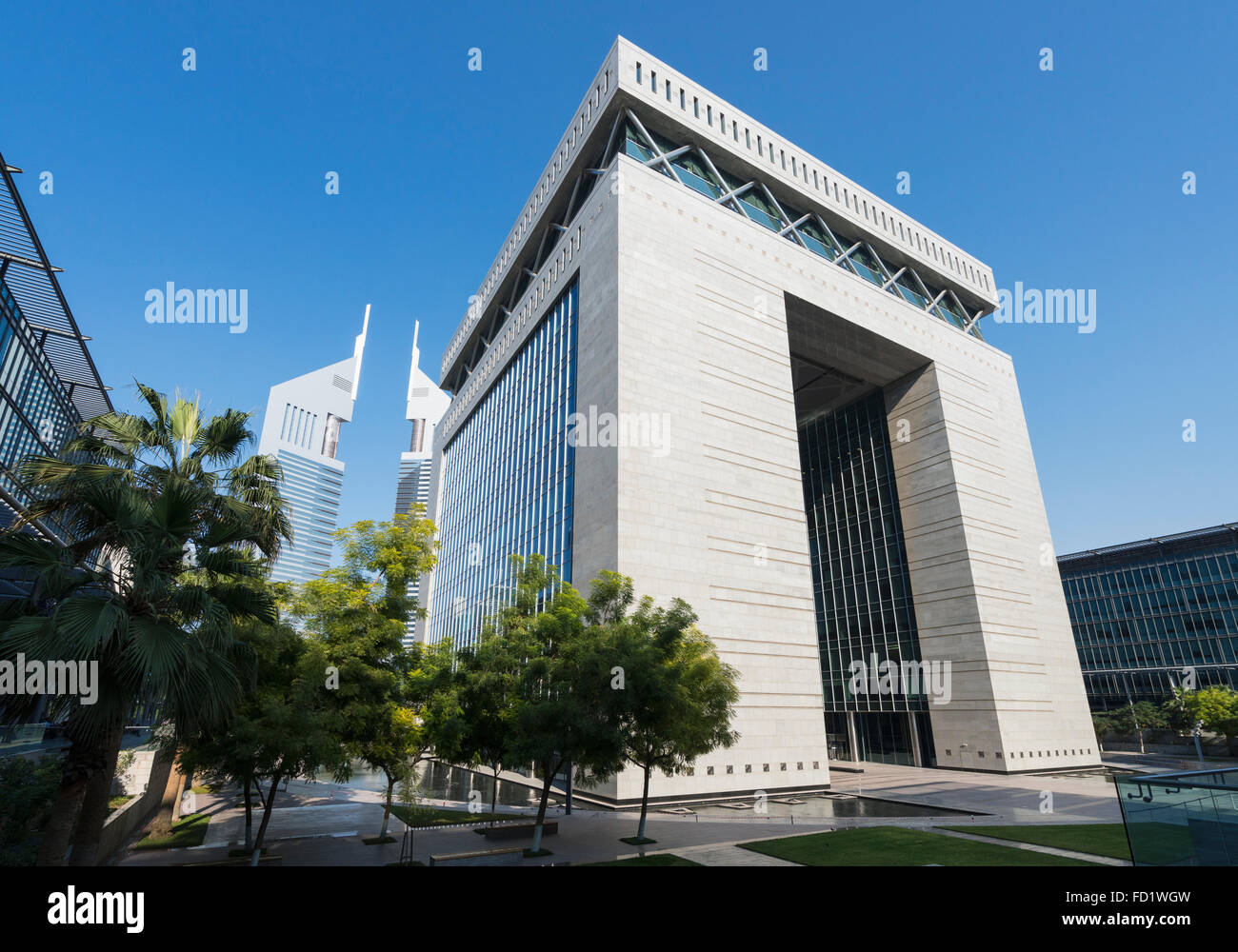 Das Torhaus im DIFC oder Dubai International Financial Centre in Dubai, Vereinigte Arabische Emirate VAE Naher Osten Stockbild