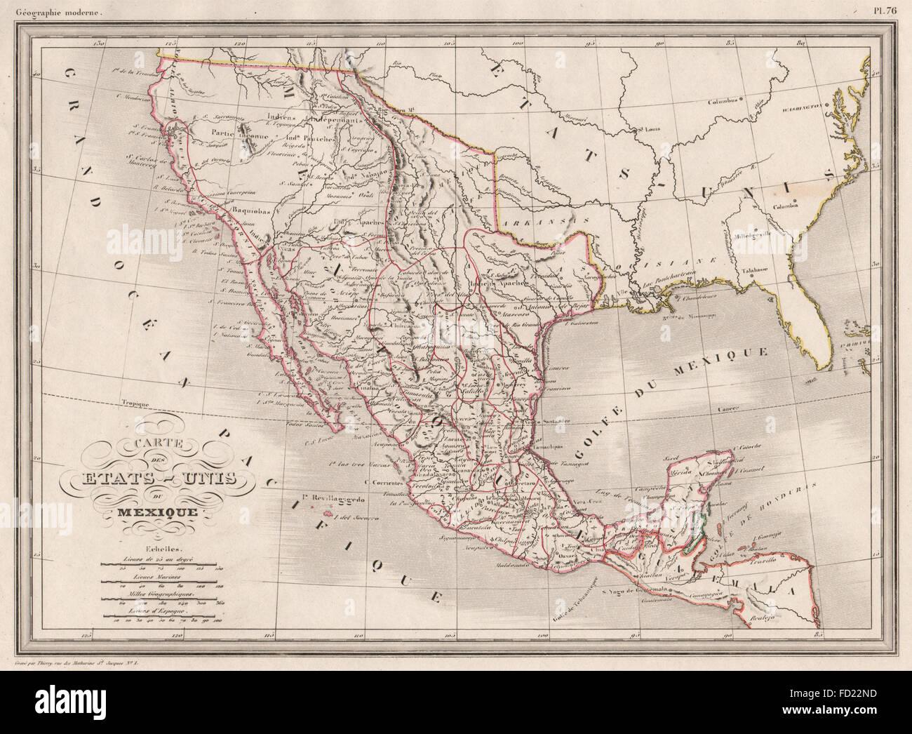 Map California Mexico Stockfotos & Map California Mexico Bilder - Alamy