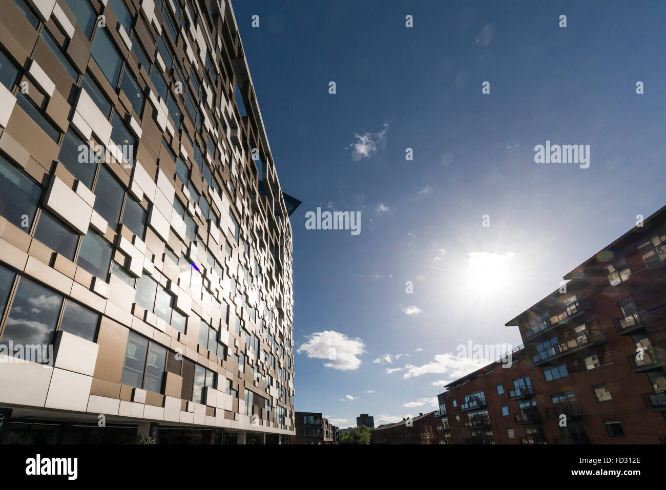 Das Cube-Gebäude, Birmingham, England Stockbild