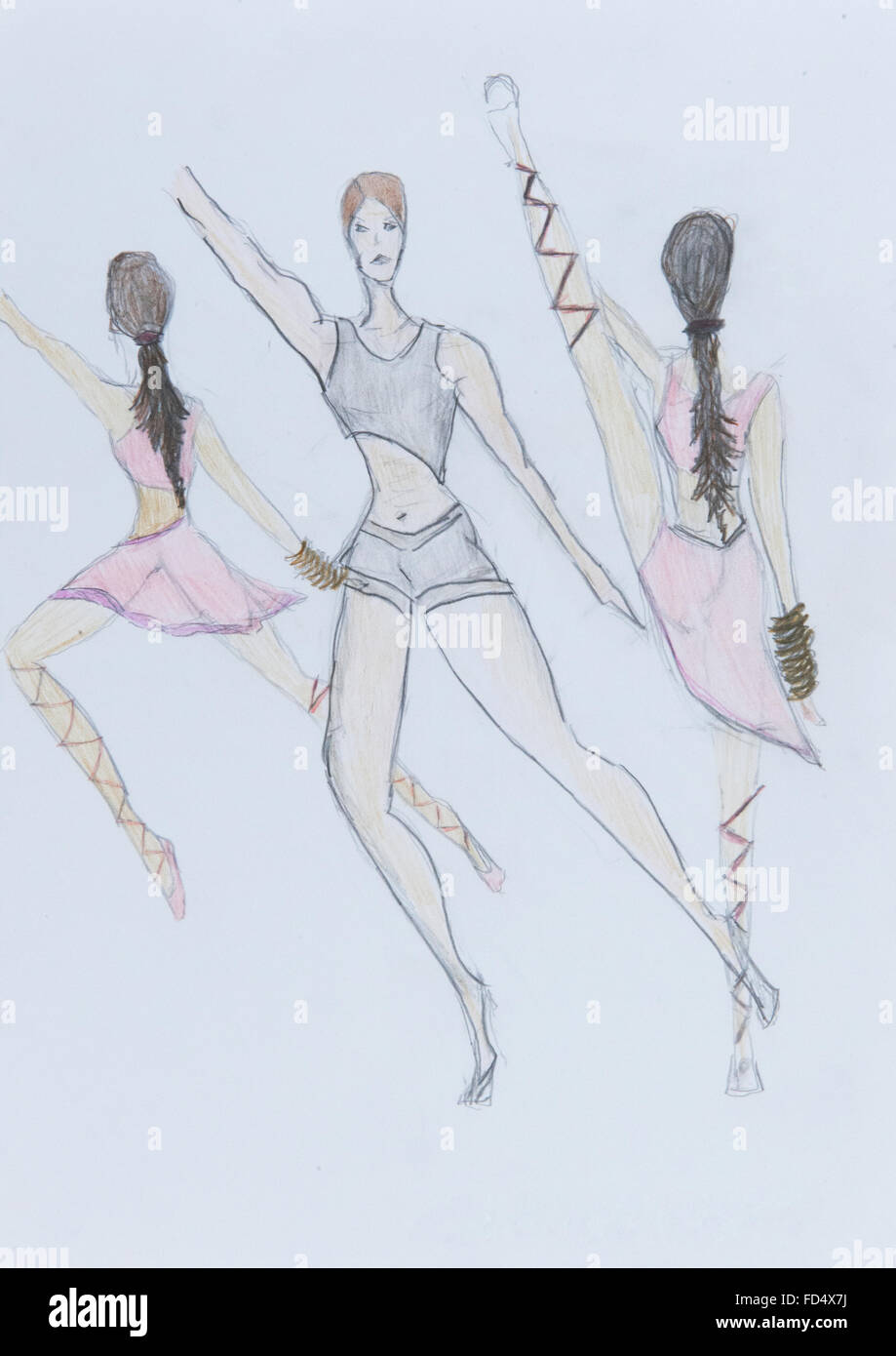 Draw Of Ballet Dancer Stockfotos & Draw Of Ballet Dancer Bilder - Alamy