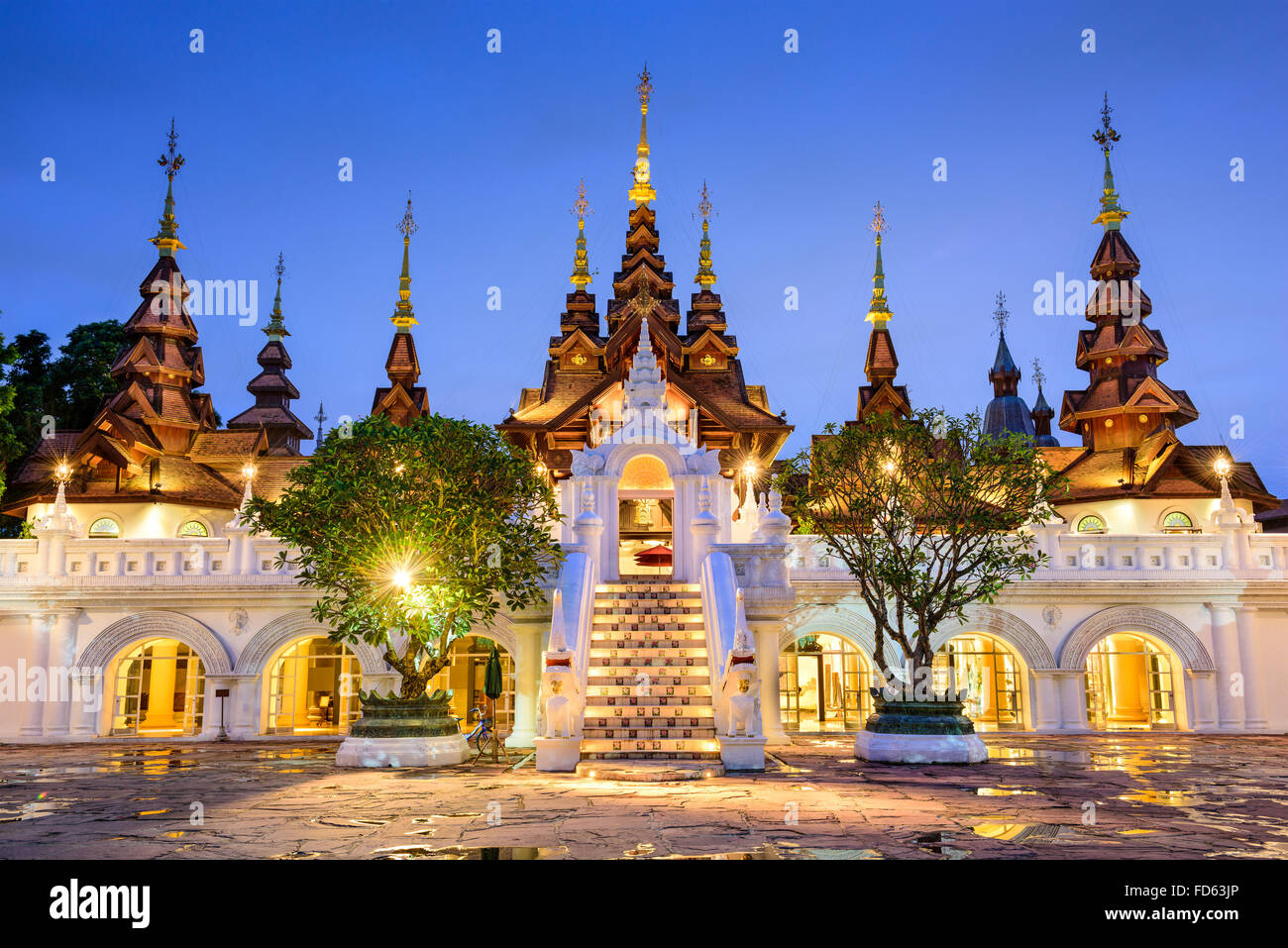Chiang Mai, Thailand traditionelles Hotel. Stockfoto