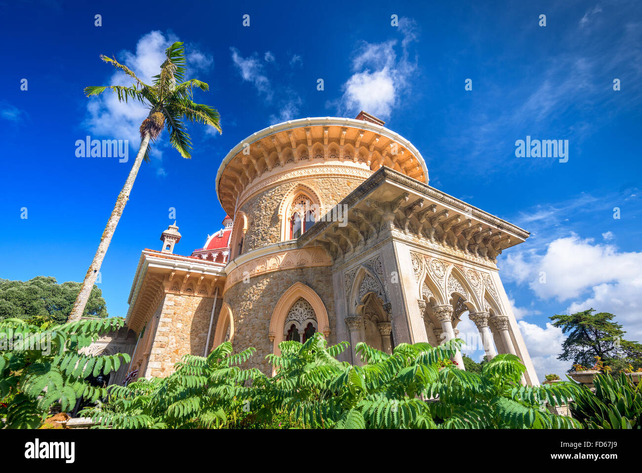 Sintra, Portugal im Monserrate Palace. Stockbild