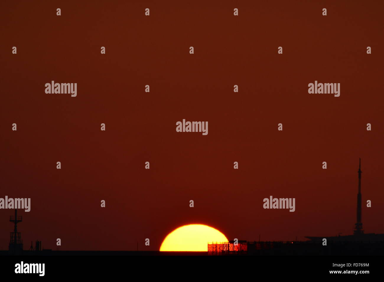 Magischen Sonnenuntergang Stockbild