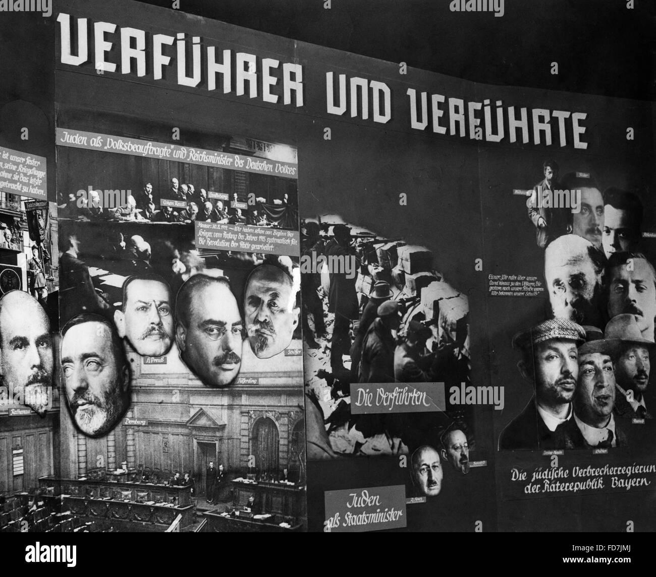 """Ausstellung mit dem Titel """"Der ewige Jude"""", 1938 Stockbild"""