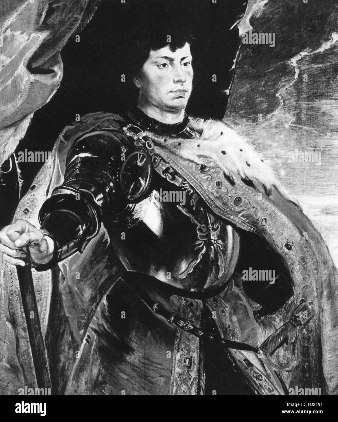 Porträt von Karl der kühne, um 1620 Stockbild