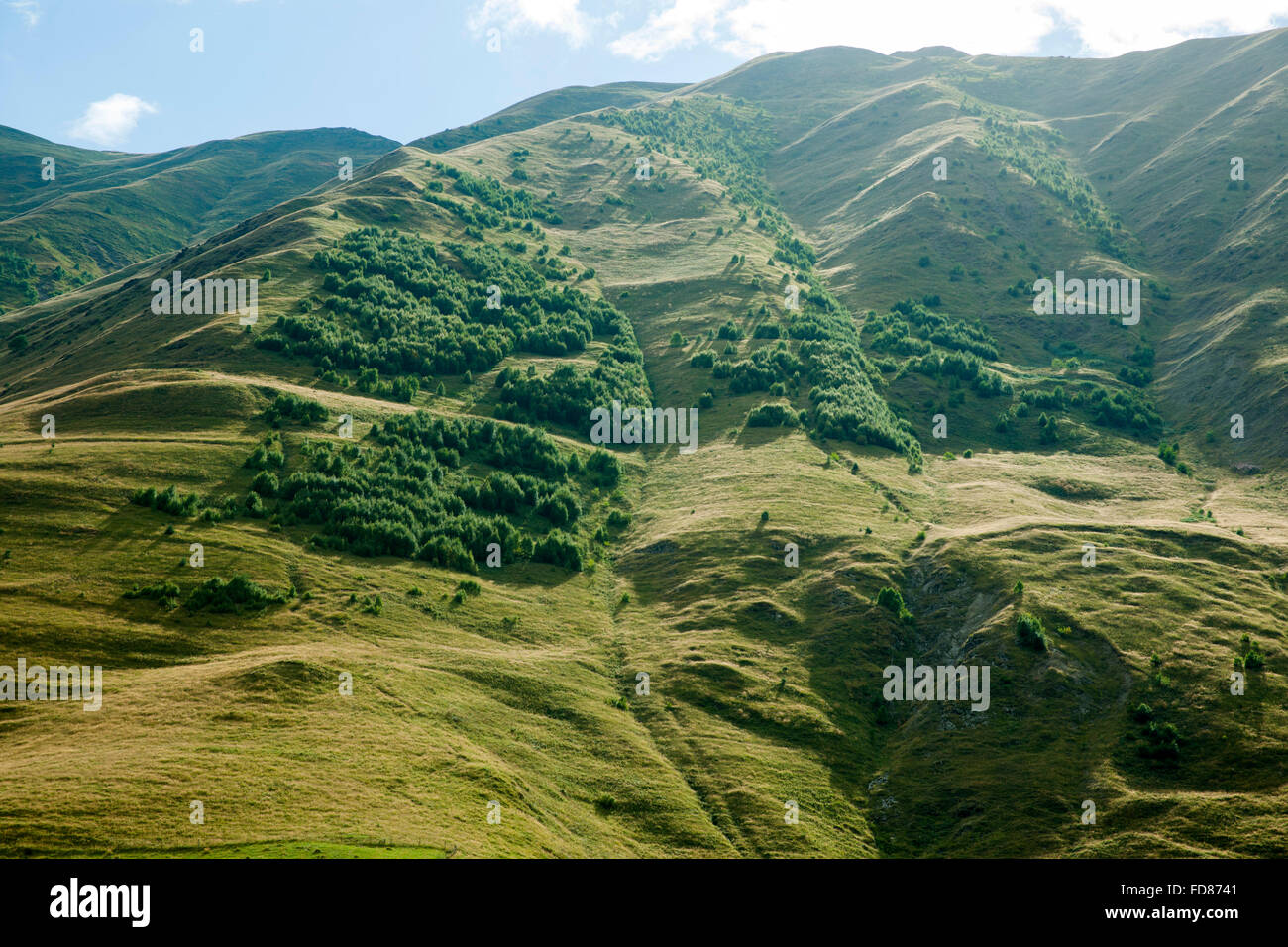 Georgien, Mzcheta-Mtianeti, Im Sno-Tal Südlich von Stepansminda. Stockbild