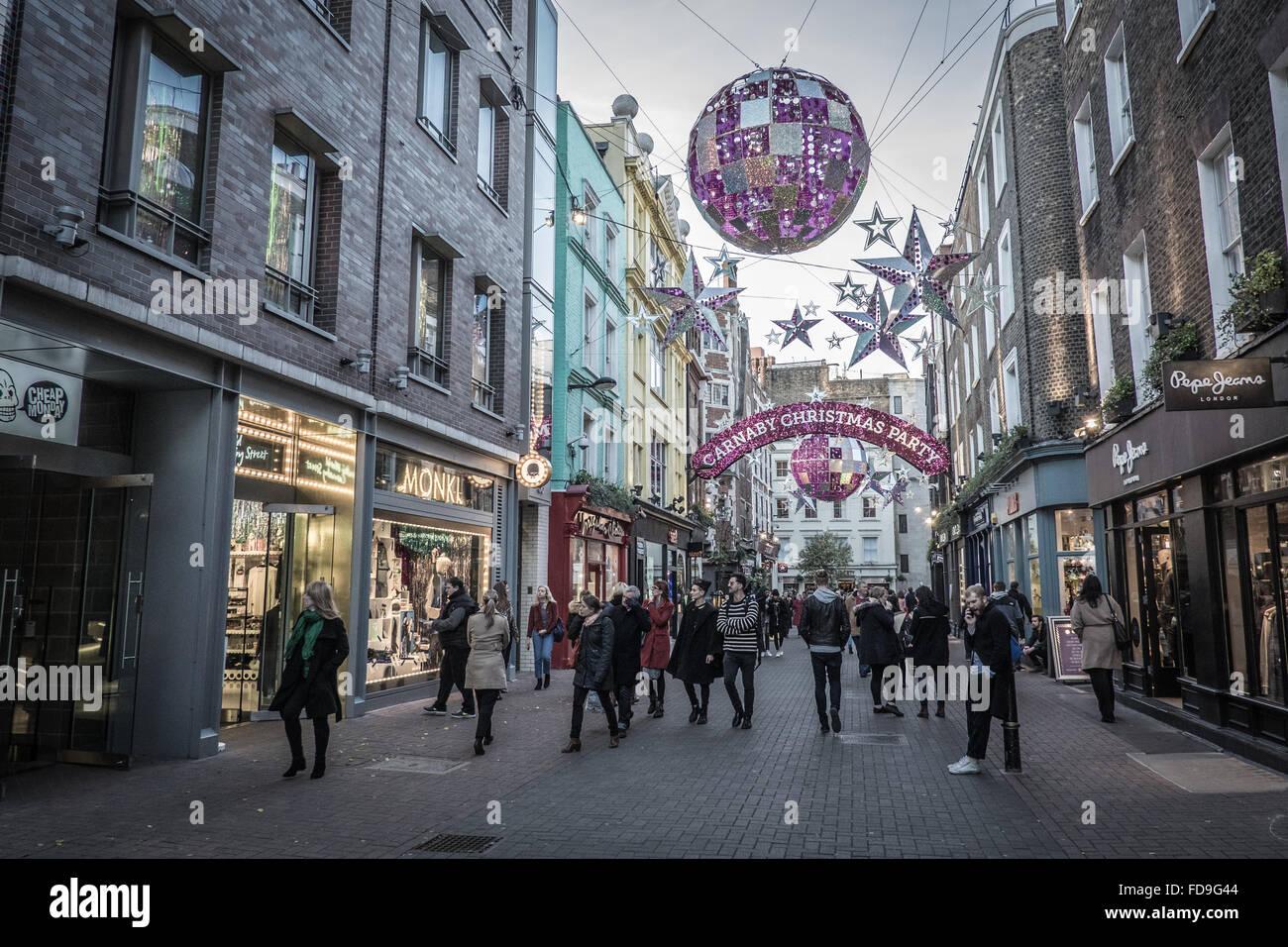 Carnaby Street London Stockfoto