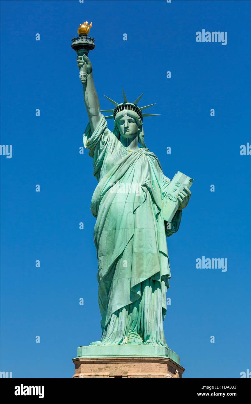 New York City, Statue of Liberty Stockbild