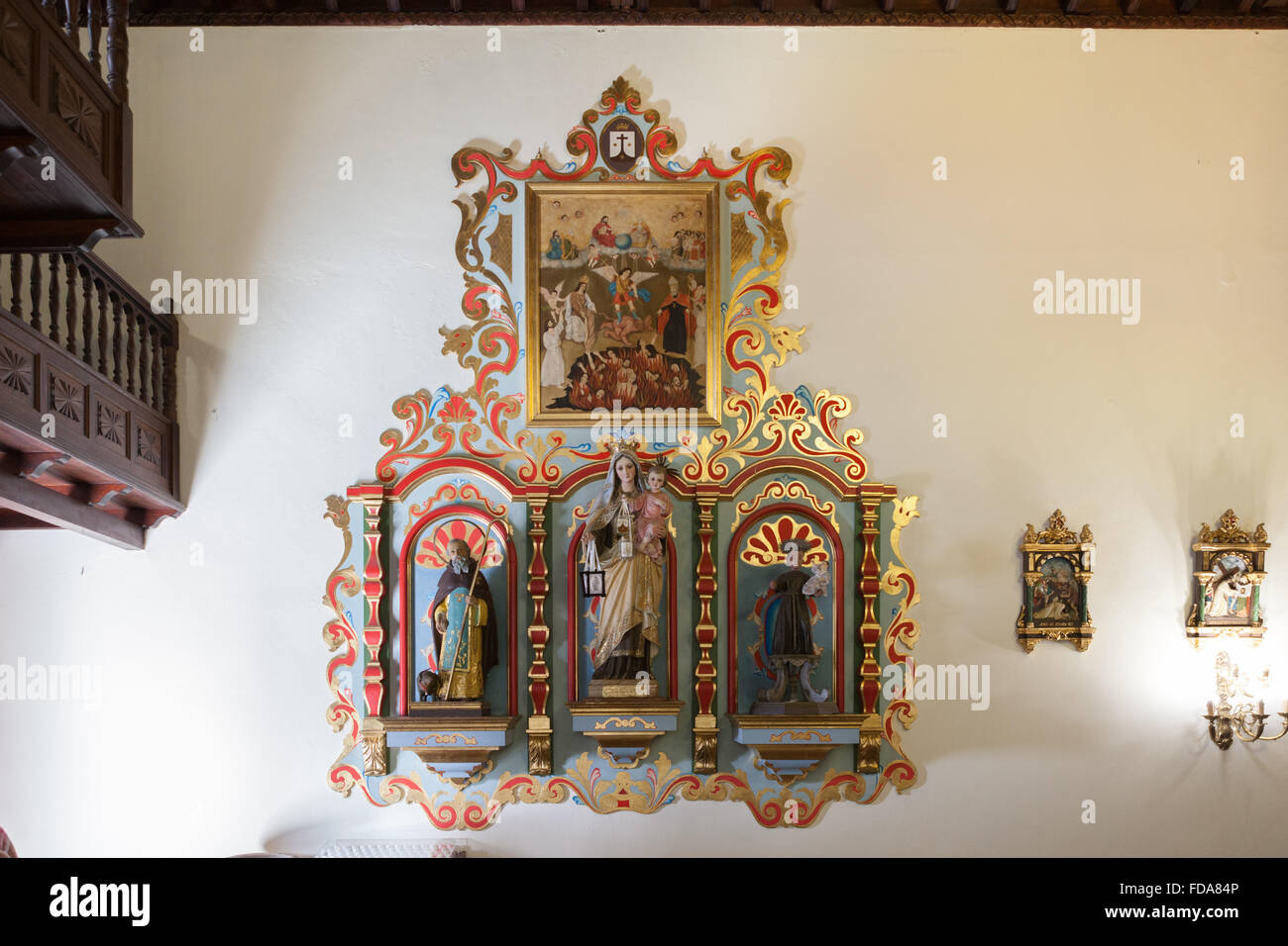Kirche San Fernando Rey (König). Santiago del Teide, Spanien. Stockbild