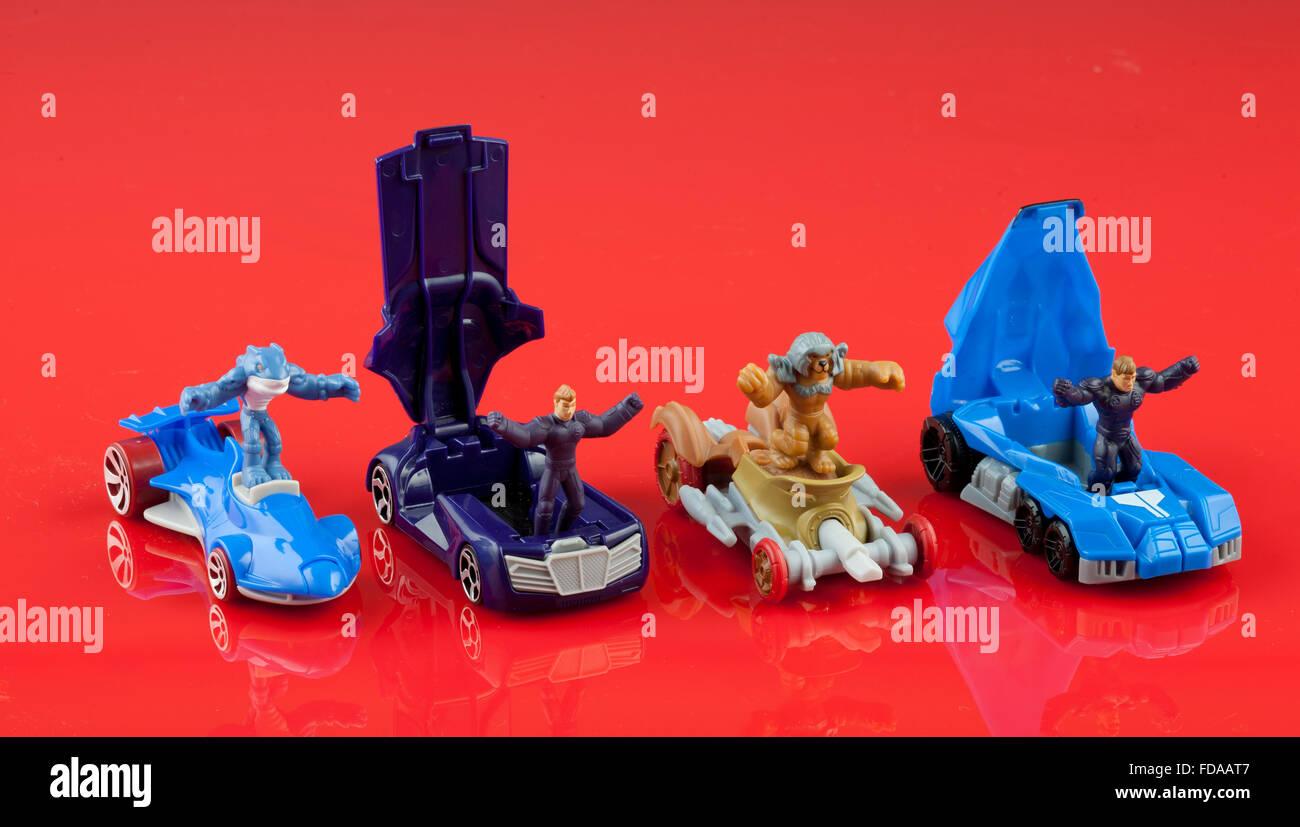 Hot Wheels Spielzeugautos 2010 Battle Force 5 Stockfoto Bild