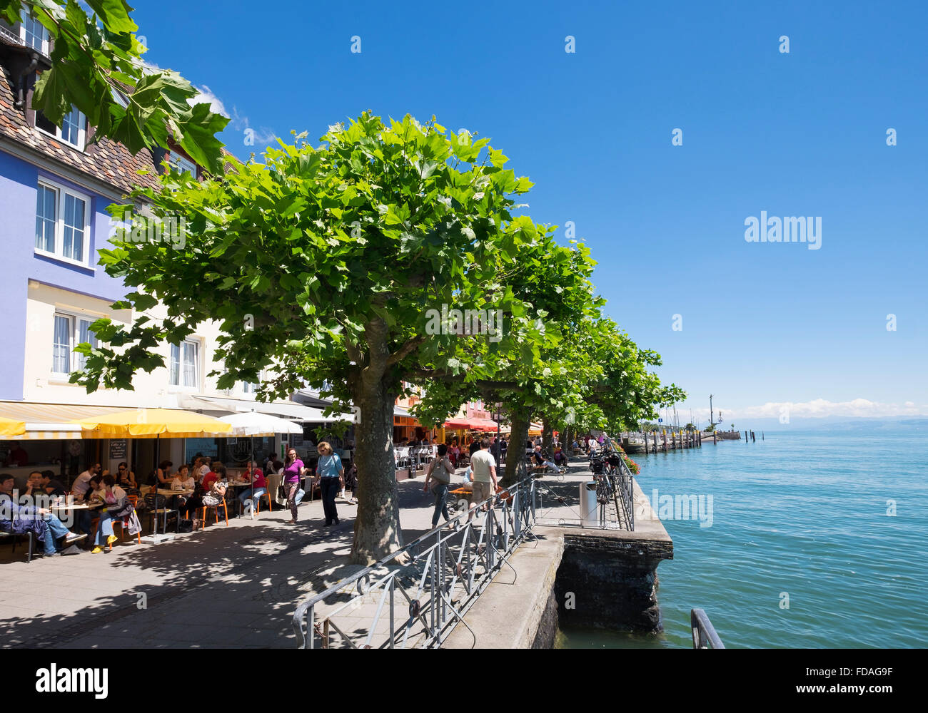 Promenade Meersburg Am Bodensee Bodenseekreis Oberschwaben Baden
