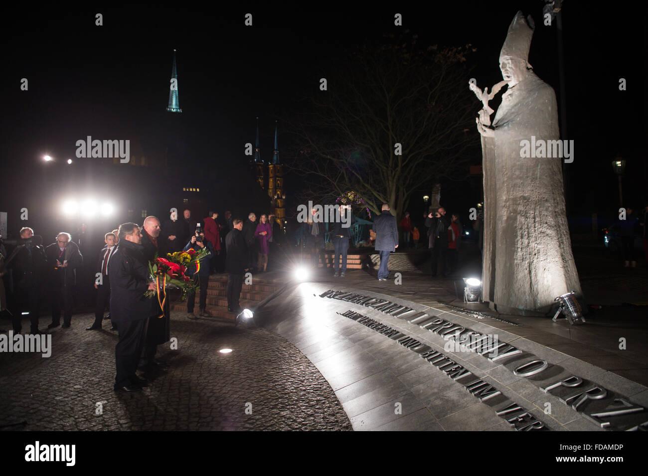 Wroclaw Polen 29 Januar 2016 Der Deutsche Wirtschaftsminister