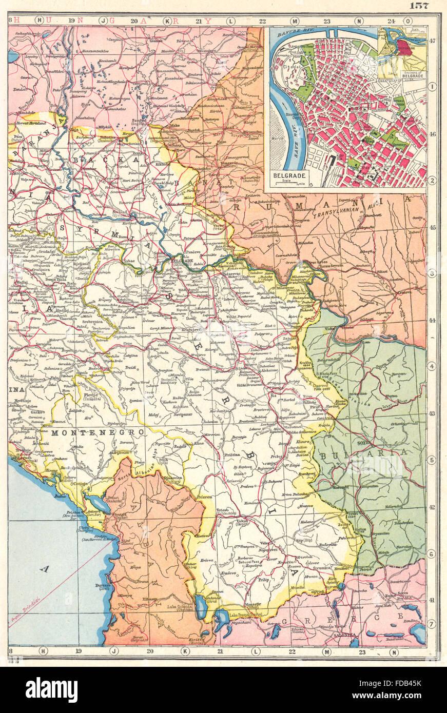 Jugoslawien Karte.Serbien Montenegro Jugoslawien Nach Osten Belgrad Plan