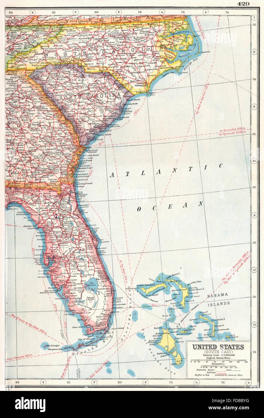 USA: Süd-Ost: Florida North Carolina South Carolina Georgia, 1920 ...