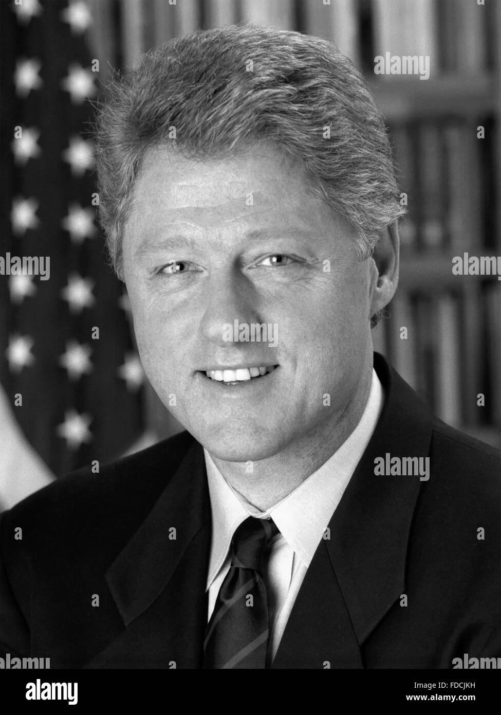 Bill Clinton. Offizielle Porträt der weißen Haus von Präsident Bill Clinton, 4. Januar 1993 Stockbild