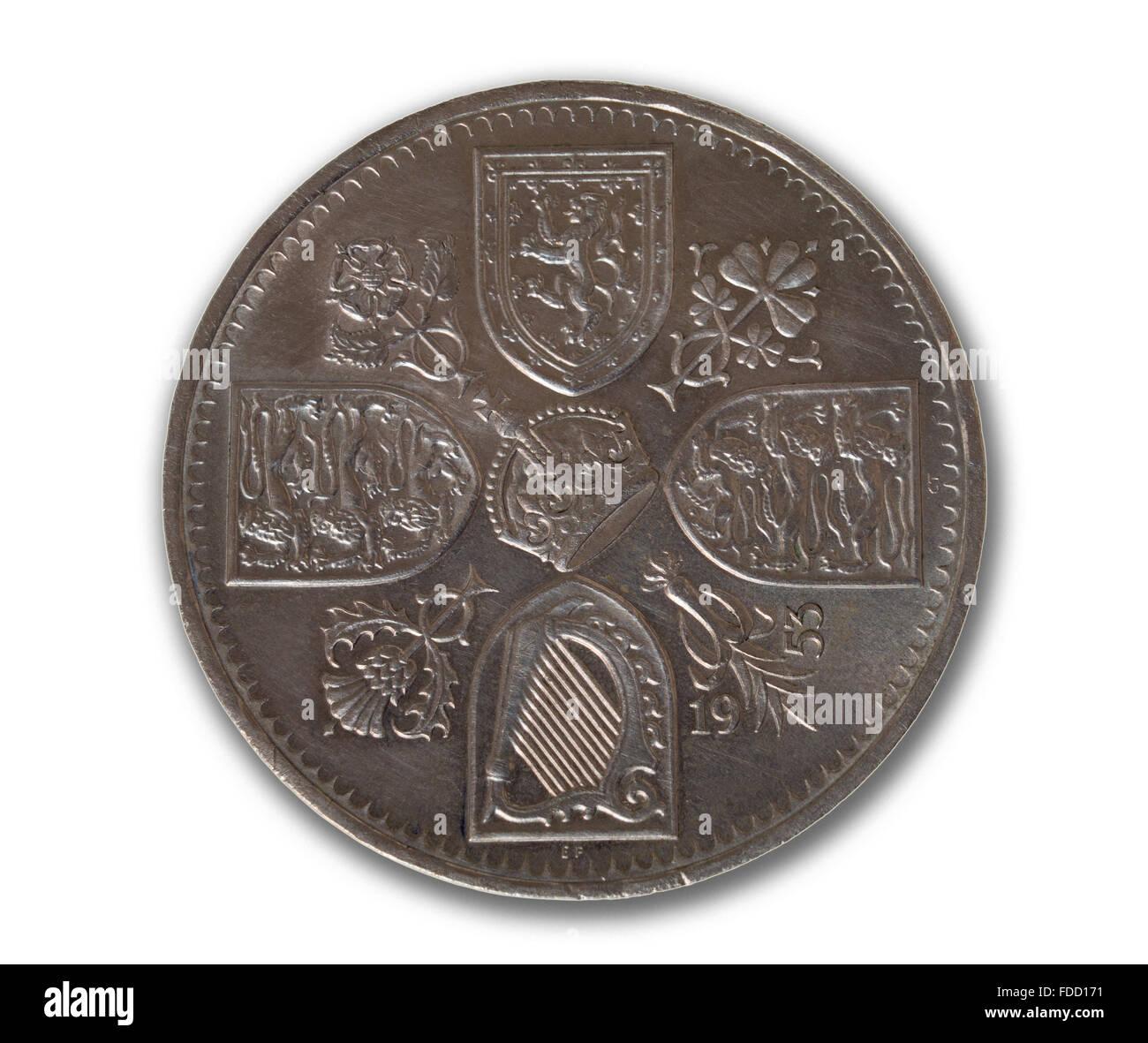 1953 Fünf Schilling Münze Oder Krone In Der Mitte Ein Kreuz