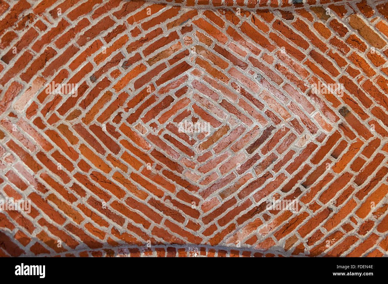 Fußboden Aus Backsteinen ~ Decke aus rotem backstein ziegelsteinmuster ziegel hintergrund