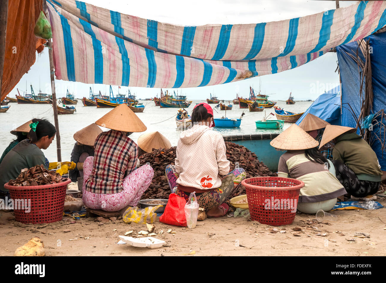 Vietnam. Vietnam. Ost-Asien. Mui Ne Beach, Binh Thuan, Stockbild