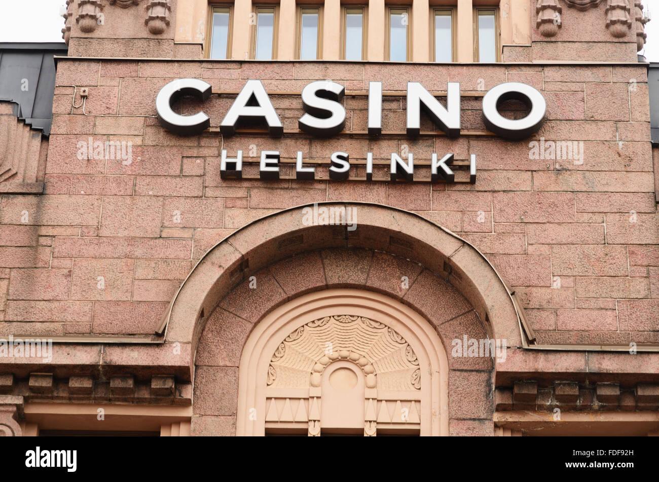 Casino-Helsinki ist der weltweit einzige Casino, das alle seine Gewinne für wohltätige Zwecke spendet. Stockbild