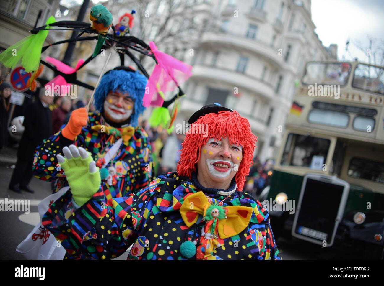 Berlin Deutschland 31 Januar 2016 Menschen Tragen Kostume