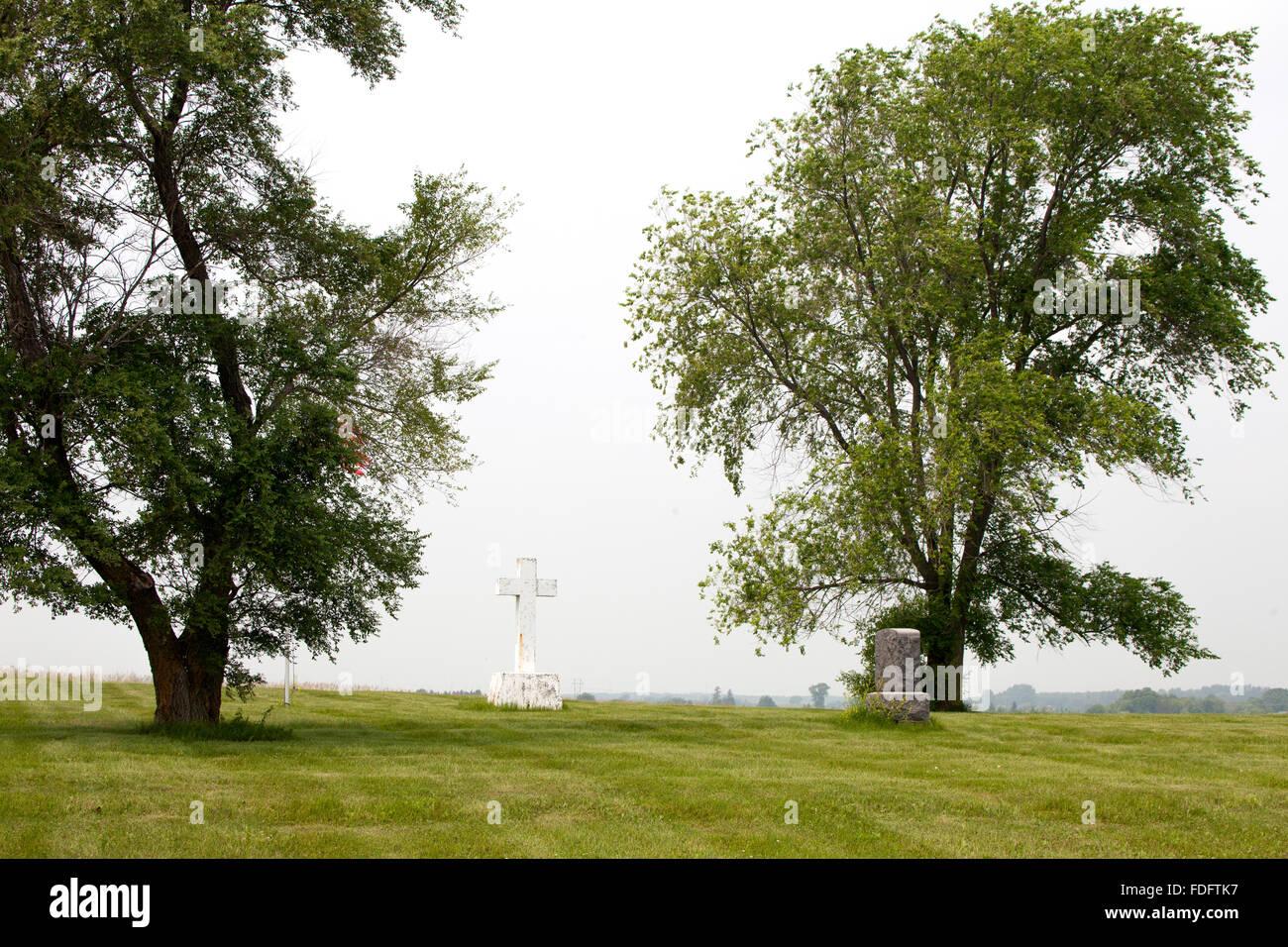 Friedhof für Geisteskranke in Fergus Falls regionale Behandlungszentrum für geistig Behinderte. Fergus Stockbild