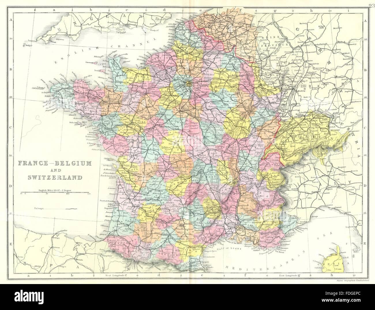 Elsass Karte Frankreich.Frankreich Belgien Schweiz Frankreich Ohne Elsass
