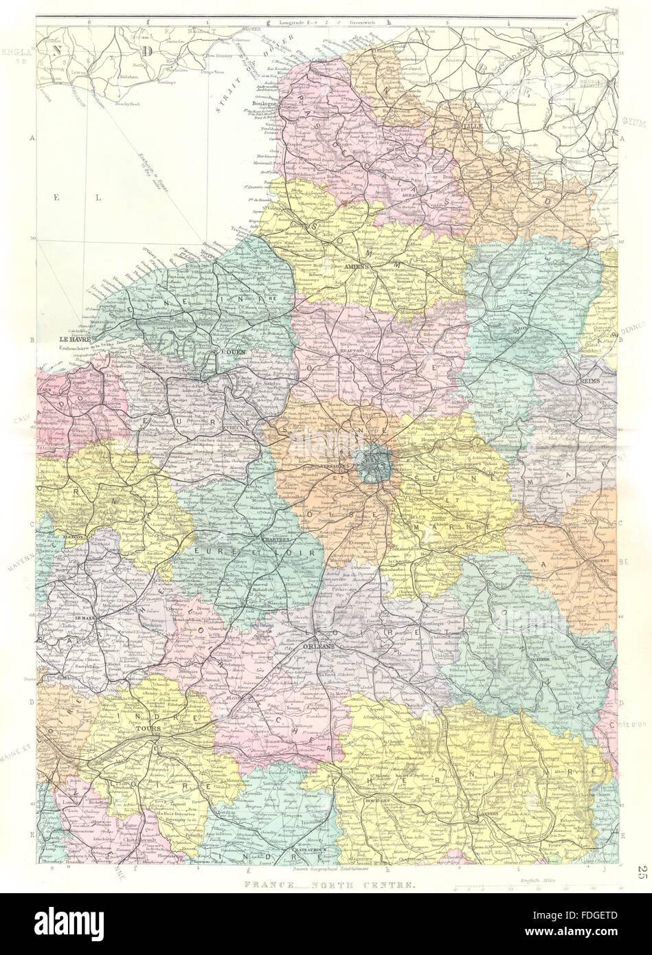 Nordfrankreich Karte.Nord Frankreich Zentrum Normandie Picardie Calais Paris Ardennen