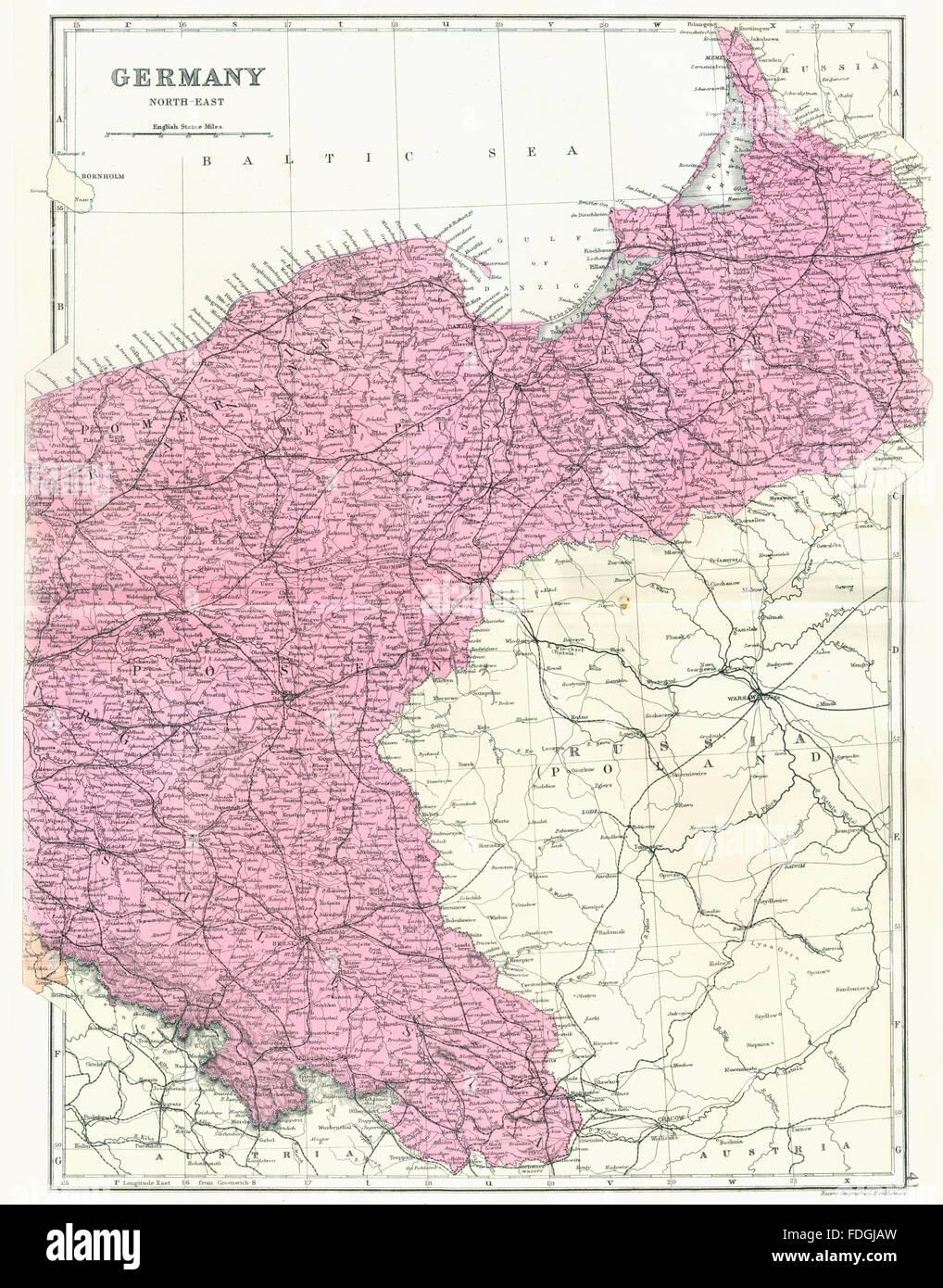 Polen Schlesien Karte.Deutschland Polen Deutsche Reich Ne Prussia Pommern Posen Schlesien