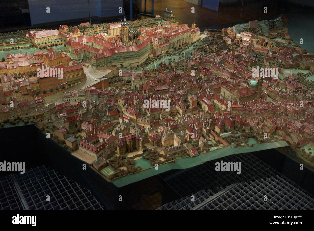 Langweil Papiermodell von Prag. Zeigt mehr als 2.000 Gebäude im historischen Zentrum von Prag bis ins kleinste Stockbild