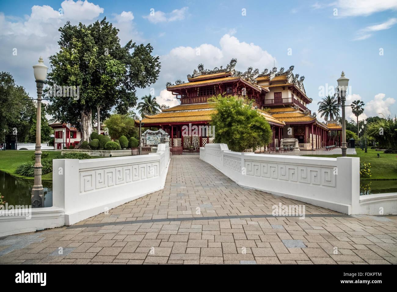 Attractive Dekorative Chinesische Palast Und Gärten Im Sommer Palast Der Bang Pa In