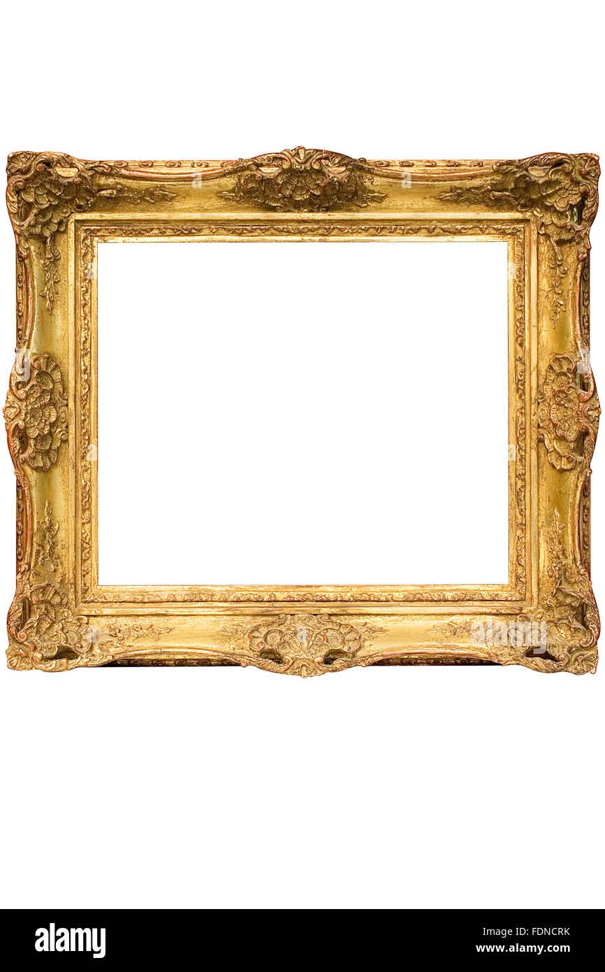 Kopieren Sie Raum, Gold, Bilderrahmen, Barock-Rahmen Stockfoto, Bild ...