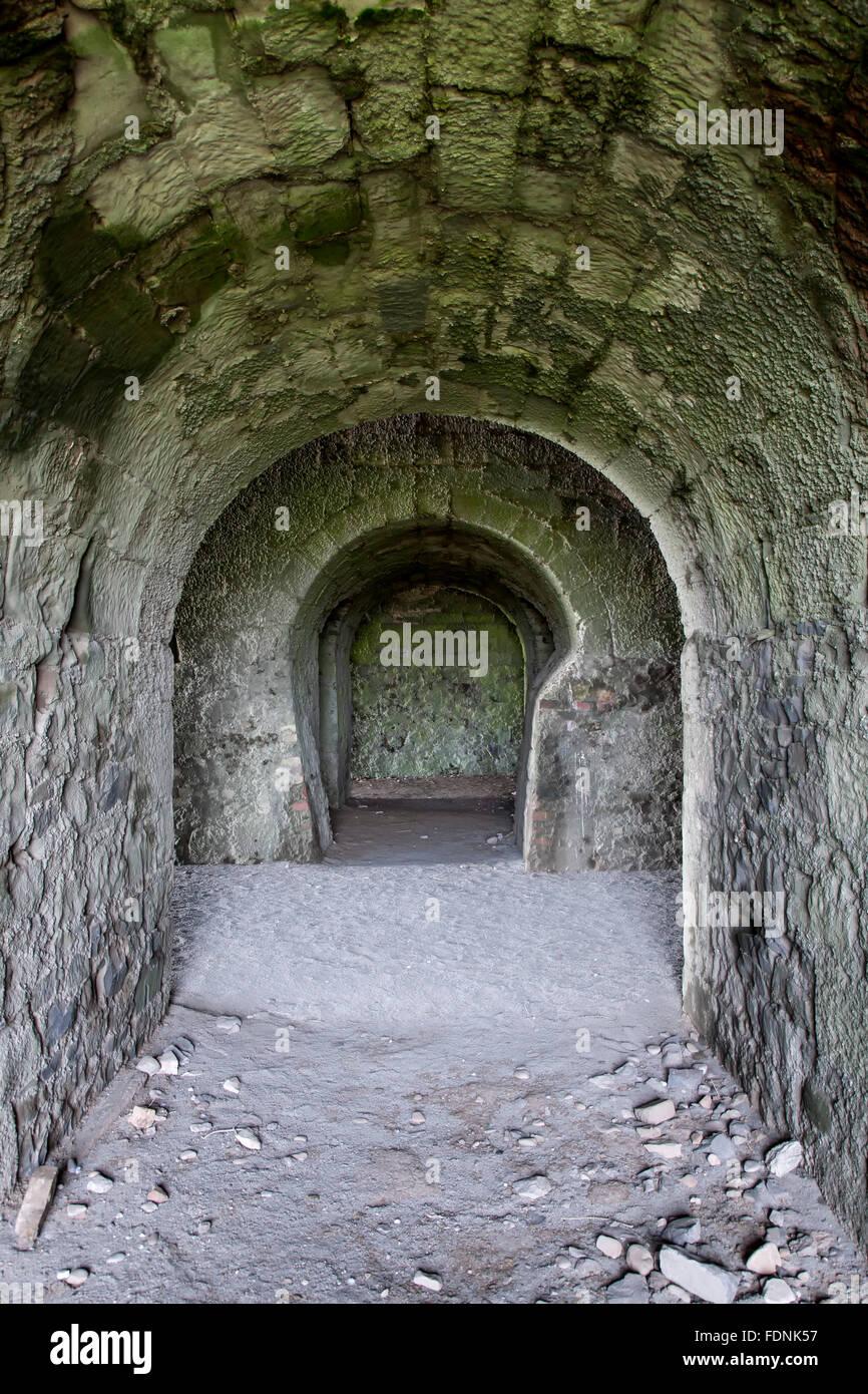 Bögen, Kalkofen, Holy Island, England, Vereinigtes Königreich Stockbild