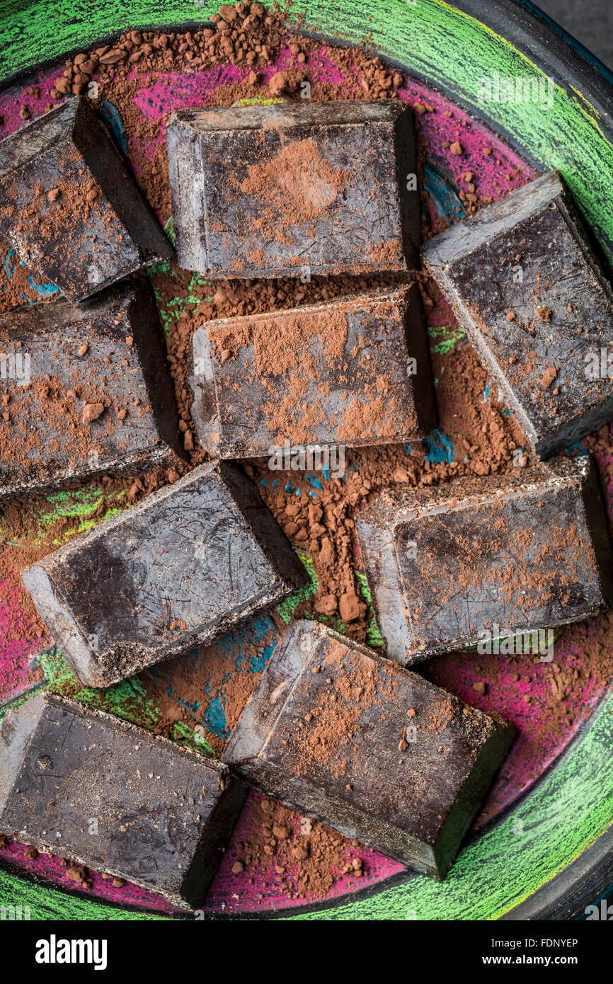 Cioccolato di Modica (Schokolade von Modica) sizilianische Spezialität) Stockbild