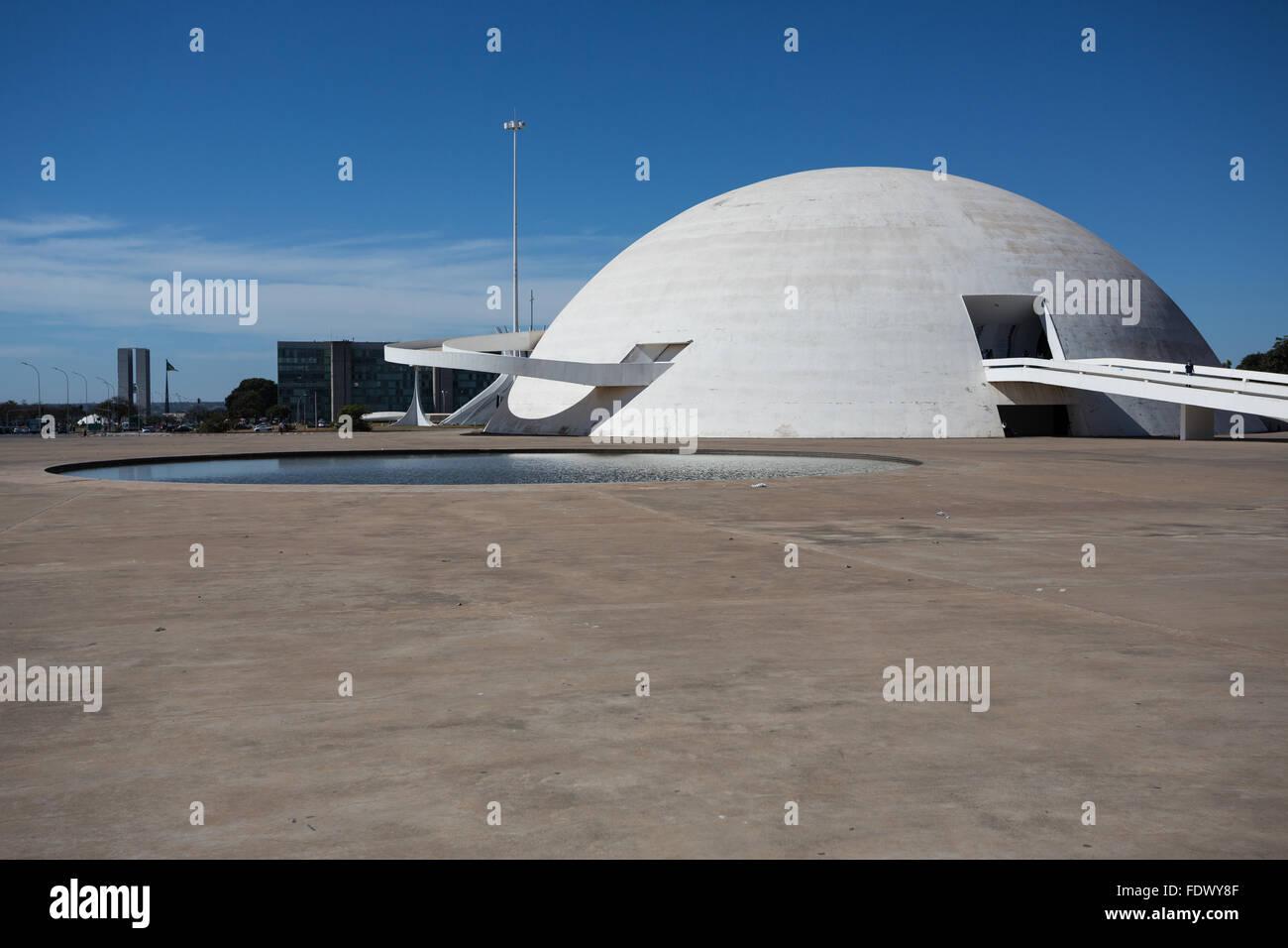 Nationalmuseum der Republik in Brasilia, Hauptstadt von Brasilien Stockbild