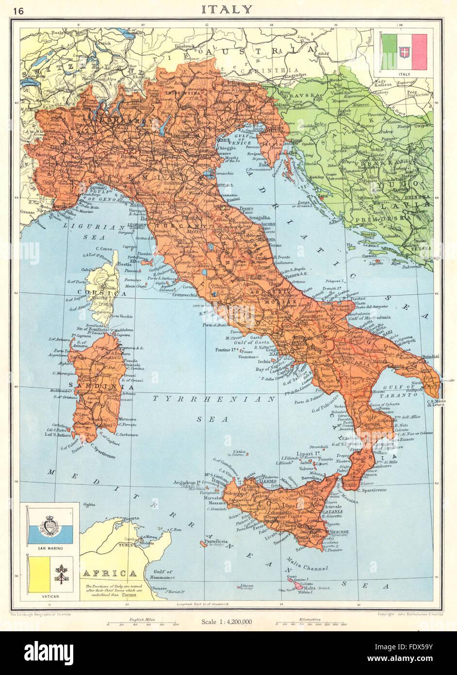 italien istrien karte Italien: kurz vor dem 2. Weltkrieg. Enthält Istrien Zara/Zadar