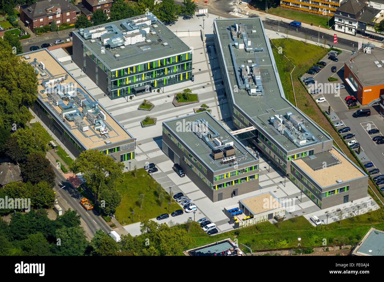 Luftaufnahme, Campus der Hochschule Rhein-Waal, Kamp ...