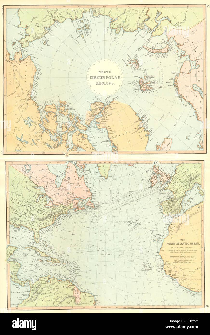 Nordpolarmeer Karte.Nordpolarmeer Circumpolar Region Nord Nordpol Greenland Blackie