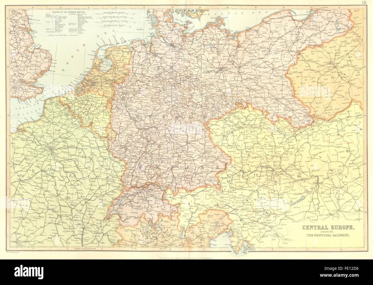 Karte Süddeutschland österreich Schweiz.Eisenbahnen In Mitteleuropa Deutschland Polen österreich Schweiz