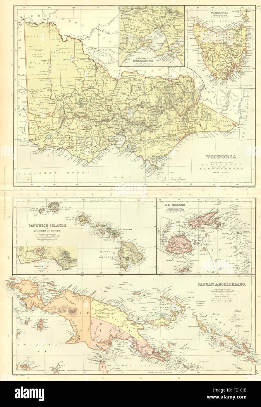 Karte Australien Und Umgebung.Victoria Tasmanien Australien Melbourne Umgebung Einfügen