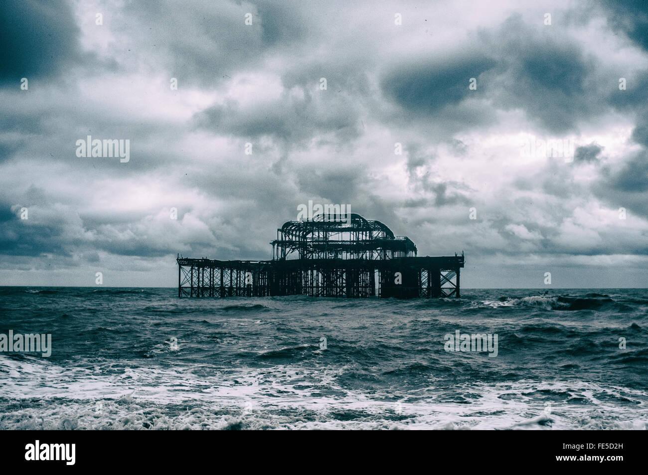 Blick auf Brighton Pier, Brighton, England, Uk Stockbild