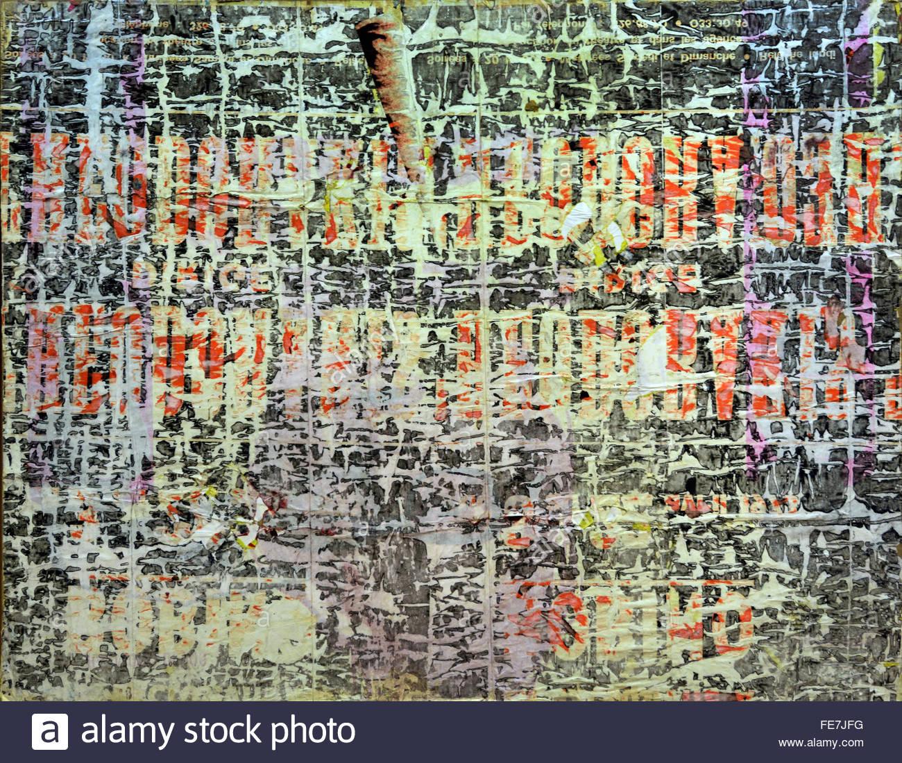 Tee 1973 Francois Dufrene 1930-1982 ist ein visueller Künstler und Dichter Französisch Lettrismus Frankreich Stockbild