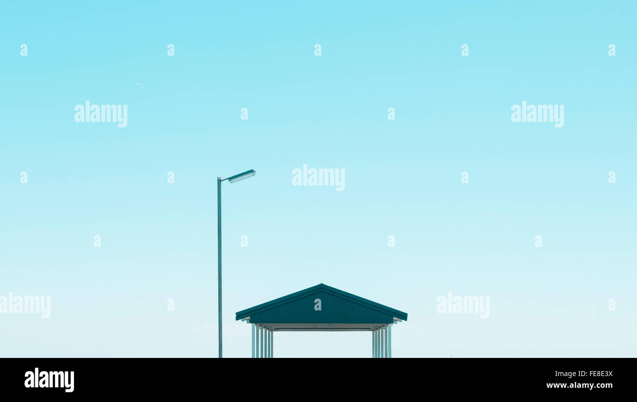 Baustruktur gegen Himmel Stockbild