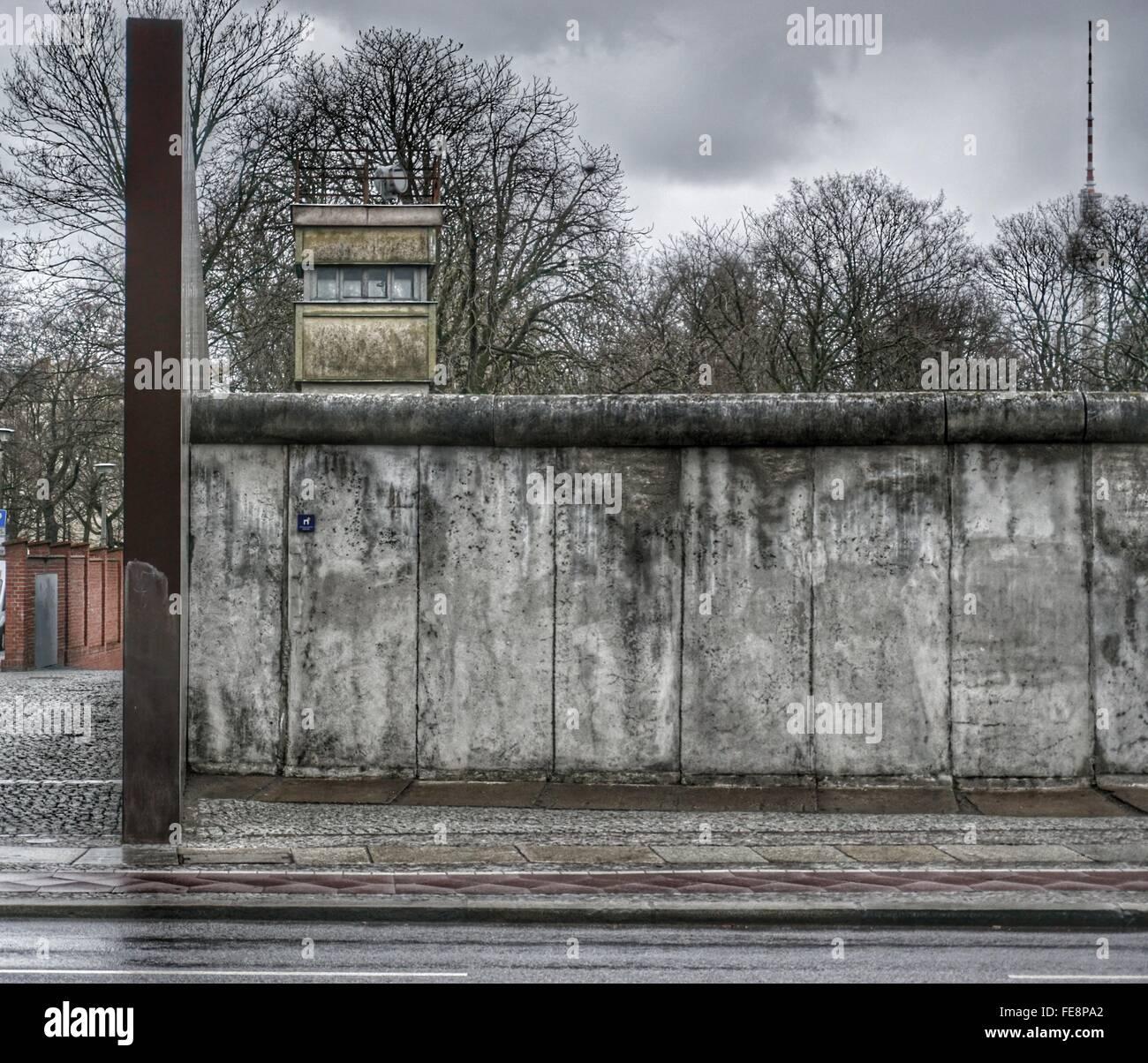 Reste der Berliner Mauer, Berlin, Deutschland Stockbild