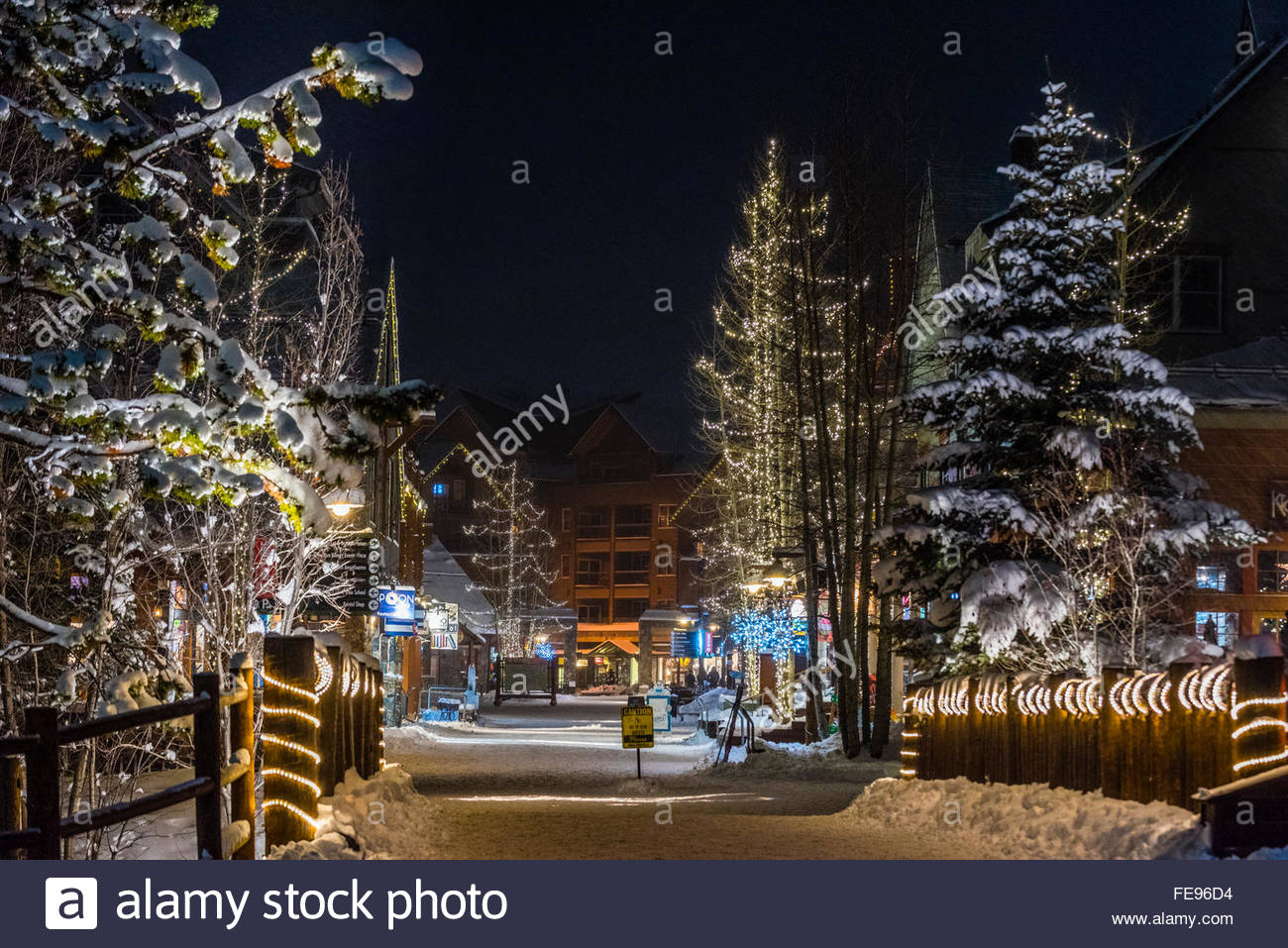 River Run Village Wahrend Der Ferien Keystone Resort Colorado Usa